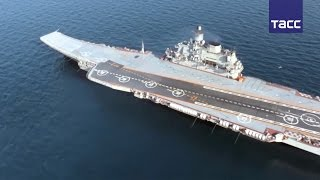 Кадры учений Военно-морского флота России за зимний период