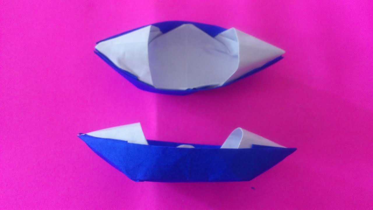 tutorial origami kapal