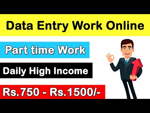 Data entry jobs   work from home   part-time job   Earn money online data entry