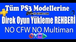 PS3 Tüm Modellerine SINIRSIZ Oyun Yükleme Rehberi   CFW MultiMAN Gerek Kalmadan   2019