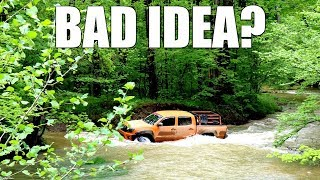 Mall Rated Toyota Tacoma Attempts Water Crossing