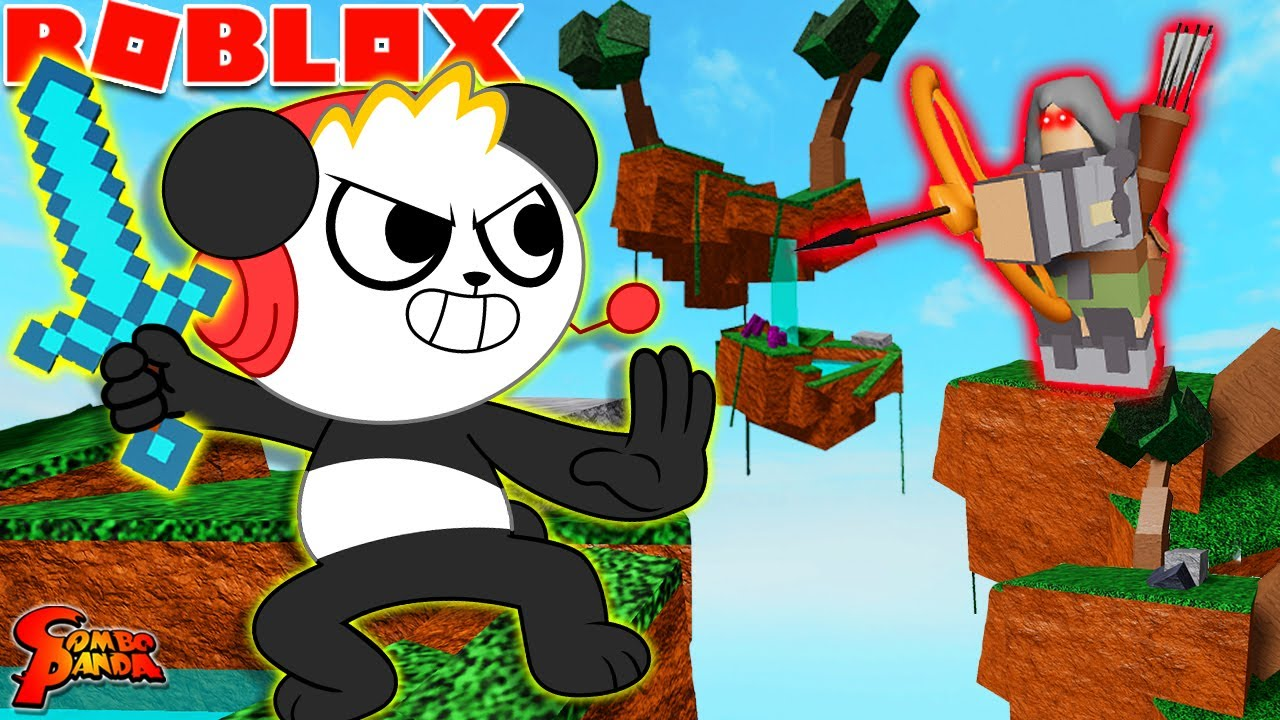 Must Protect My Island!! Let's Play Roblox Sky Wars with Combo Panda