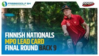 Finnish Nationals 2018 MPO Final Round Lead Card, Back 9