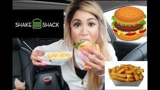 GETTING SHAKE SHACK FOR THE FIRST TIME! (MUKBANG)