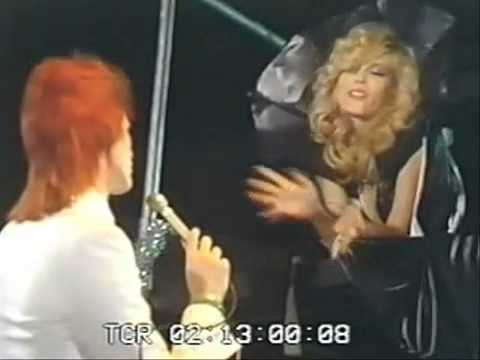 David Bowie  &  Amanda Lear   Who Are You ? Répétition on the Stage 1973 !