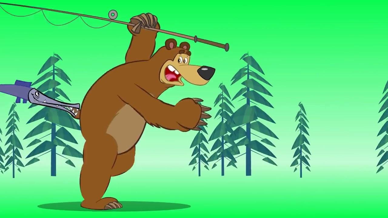 Картинки первая встреча маша и медведь