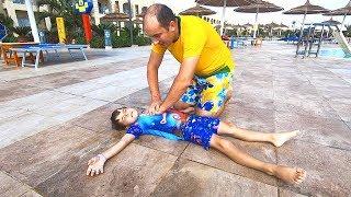 Bogdan a cazut in apa Tata il salveaza   Sketch   Video educativ pentru copii