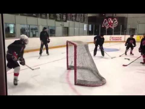 Defenceman hockey drill