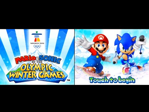 Mario & Sonic At The Olympic Winter Games (DS) Playthrough ~Longplay~