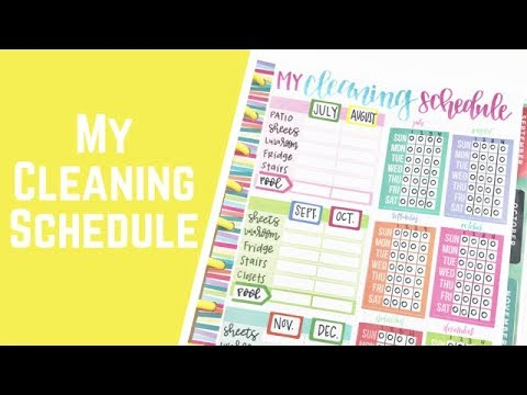 My Cleaning Schedule Habit Tracker Youtube