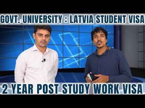 Govt. University : Latvia Student Visa | 2 Year Post Study Work Visa | Study In Latvia