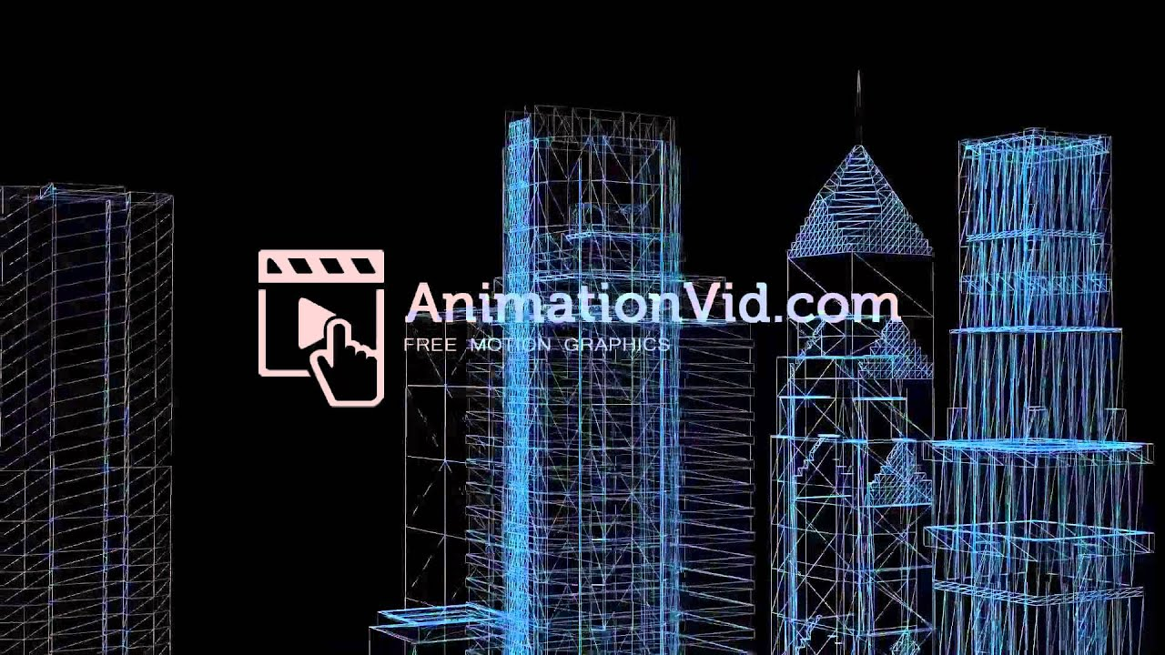Buildings blueprint motion video youtube buildings blueprint motion video malvernweather Images