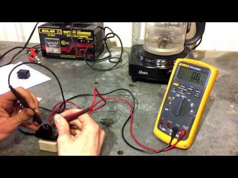 Blower motor resistor test