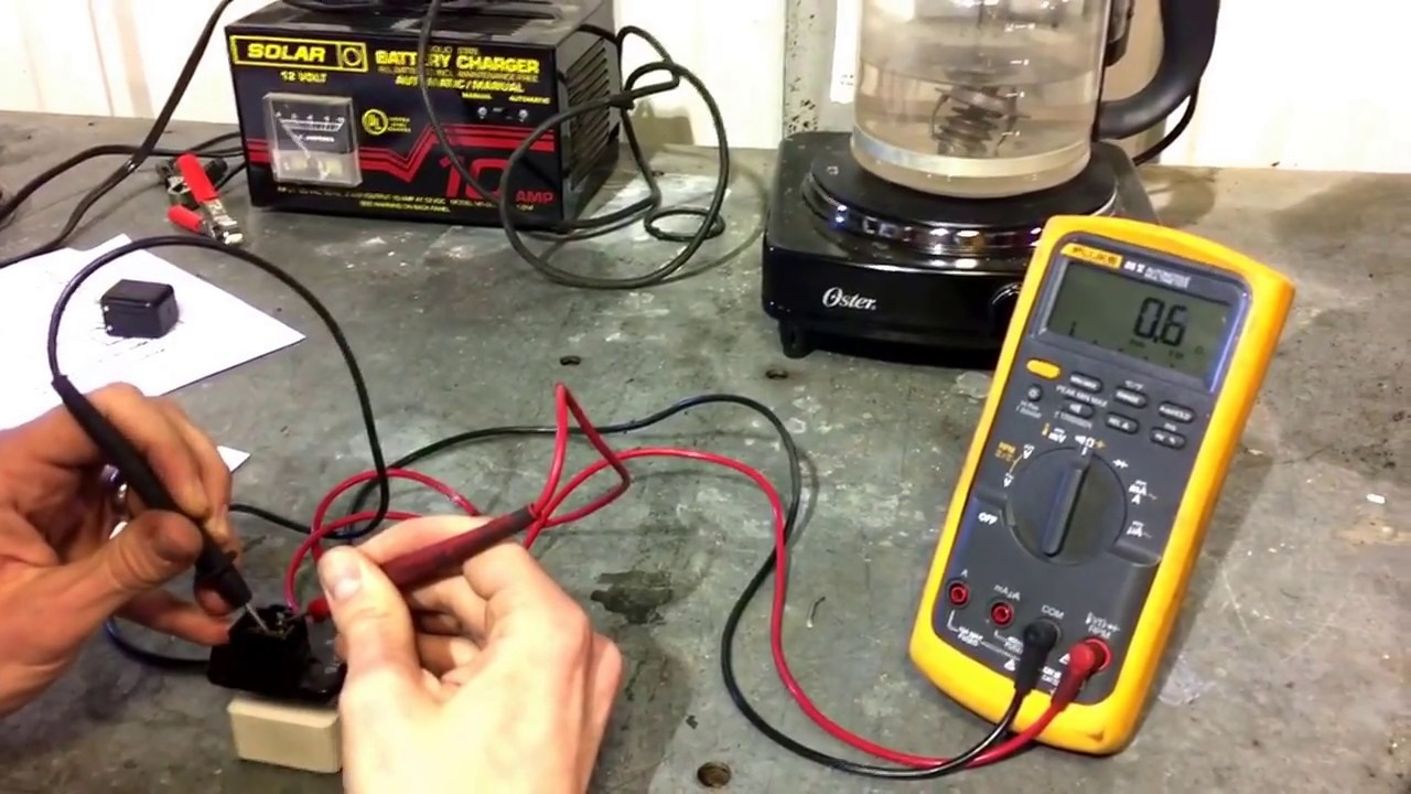 Blower motor resistor test youtube for How to check ac motor