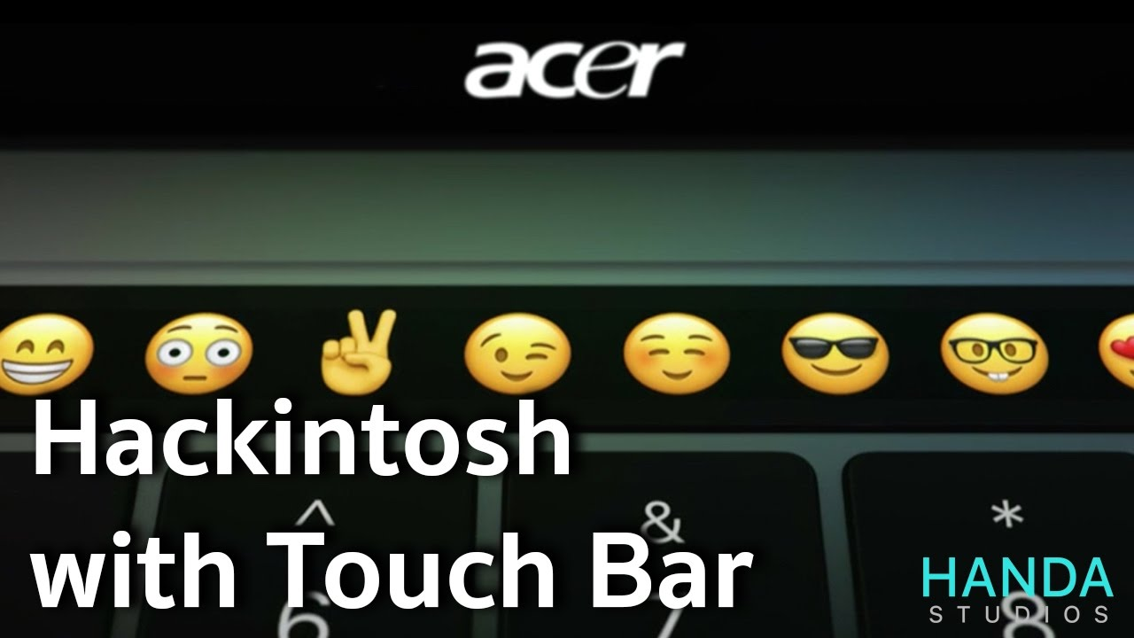 Hackintosh with Touch Bar [TouchBarDemo app]