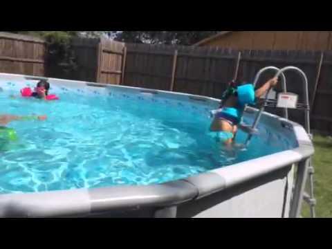 16x48 Coleman Intex Pool Youtube