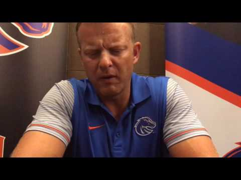 Boise State football coach Bryan Harsin at Mountain West media days, part 1
