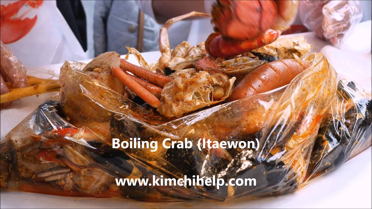 Korean Famous Restaurants Boiling Crab Shrimp Itaewon In Seoul