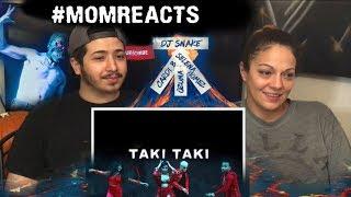 #MomReacts Dj Snake Taki Taki ft. Selena Gomez, Ozuna, Cardi B REACTION