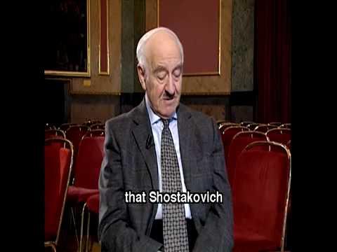 Rudolf Barshai talks about SHOSTAKOVICH (2/3)