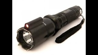 обзор фонарика с электрошокером Police 288