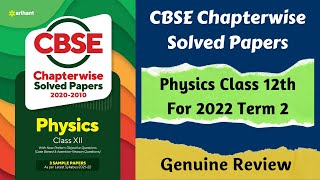 CBSE Chapterwise Solved Papers Physics Class 12 Book Review Solved Papers for 2020 - 20121