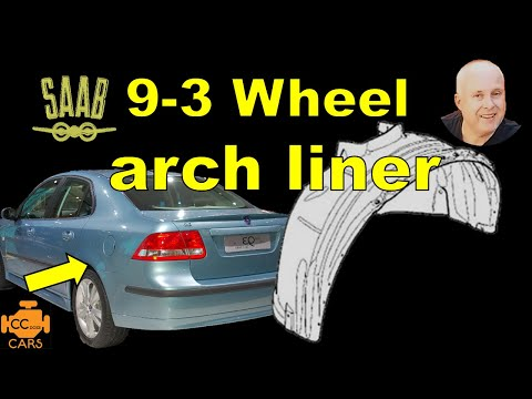 How to remove Wheel Well Liner | Saab 9-3 Repair Pt 5