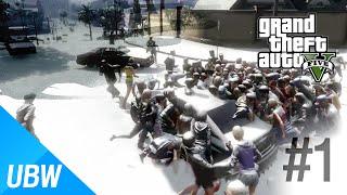 GTA 5 A long winter(좀비 서바이벌) 모드 #1편 - GTA 5 Mod Showcase: A long winter Mod #1