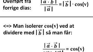 NY Bevis for vinkel v mellem to vektorer