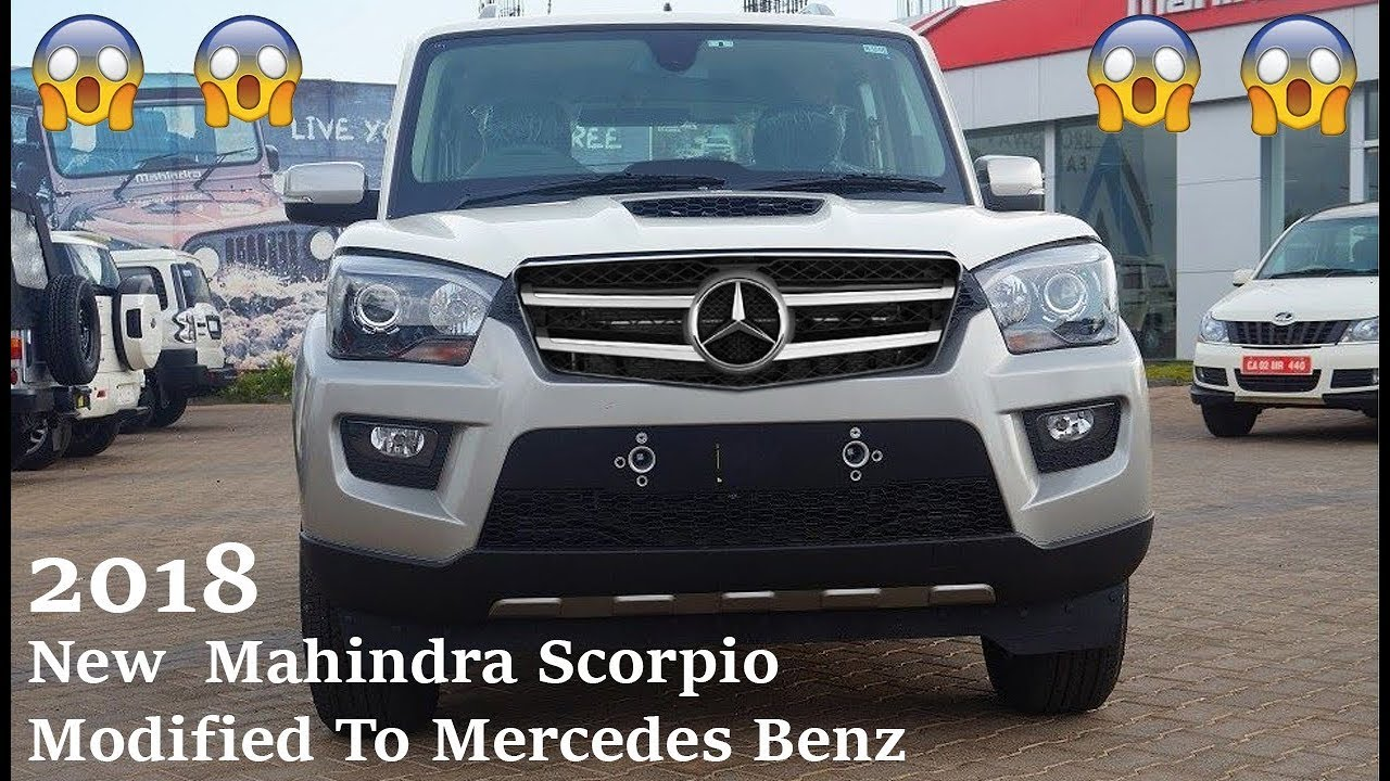 new mahindra scorpio modified to look like a mercedes benz 2018 youtube. Black Bedroom Furniture Sets. Home Design Ideas