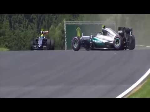 F1 2016 Austrian GP Nico Rosberg Crash FP3 Red Flag