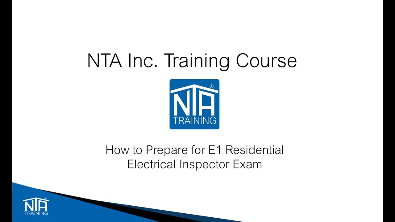 Studying for the ICC E1 Residential Electrical Inspector Video