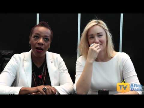 Marianne Jean-Baptiste (Mayfair) & Ashley Johnson (Patterson) from Blindspot NYCC 2015 Interview