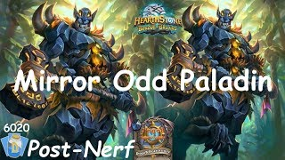 Hearthstone: Odd Paladin Post-Nerf #11: Witchwood (Bosque das Bruxas) - Standard *486 wins*