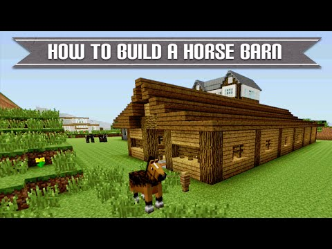 Minecraft xbox playstation how to build a cool survival for How to build horse barn
