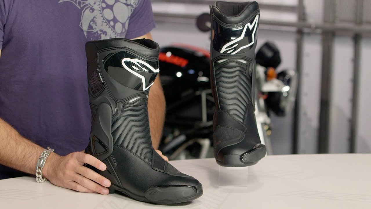 alpinestars smx 6 wp boots review at youtube. Black Bedroom Furniture Sets. Home Design Ideas