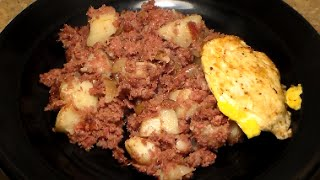 World's Best Corned Beef Hash & Eggs Recipe: Homemade Corned Beef Hash