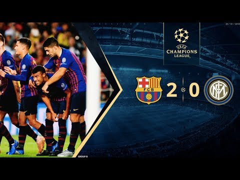 Barcelona vs Inter Milan [2-0], Champions League, Group Stage 2018 - MATCH REVIEW