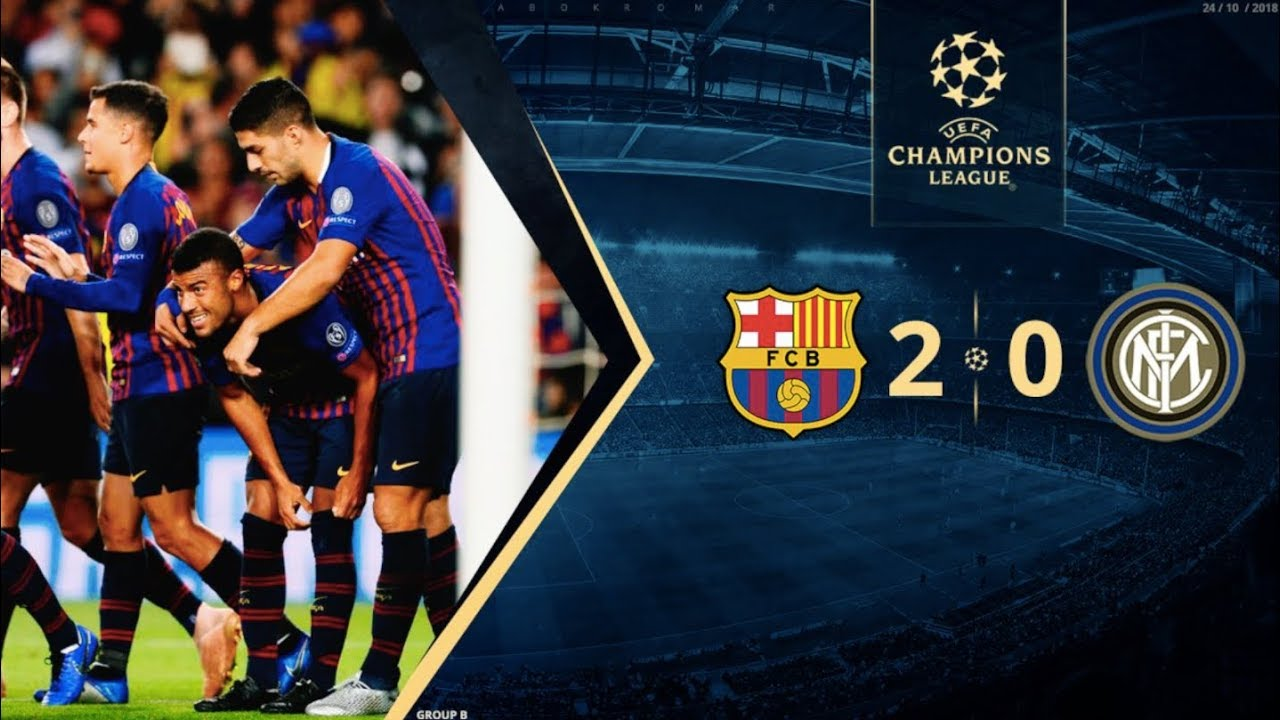 Barcelona Vs Inter Milan 2 0 Champions League Group