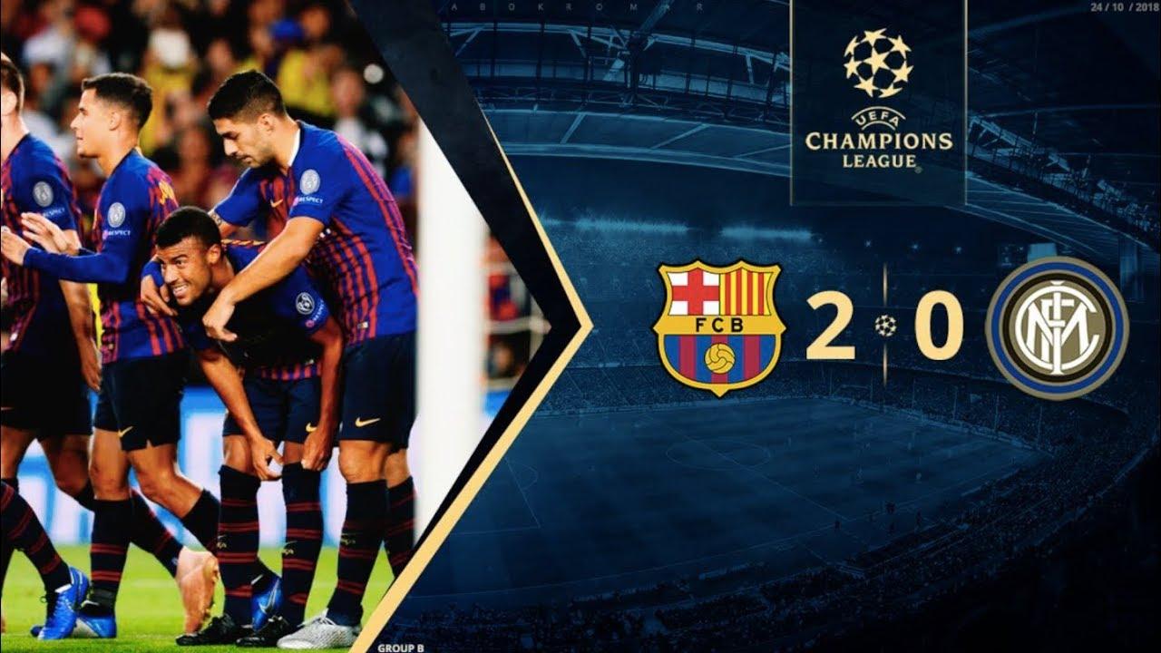 Barcelona Vs Inter Milan 2 0 Champions League Group