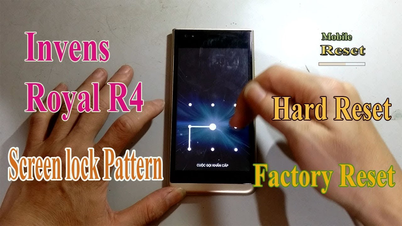 Hard reset Invens Royal R4 to bypass screen lock pattern