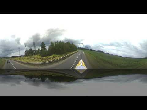 Тест камеры 360Fly на крыше авто