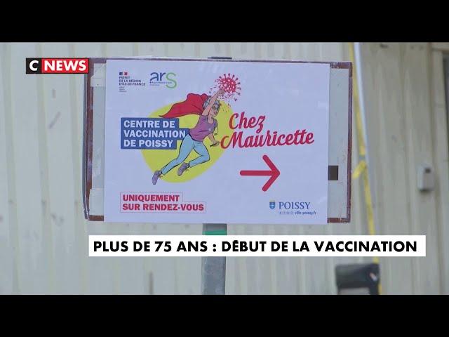Coronavirus \: début de la vaccination pour les plus de 75 ans