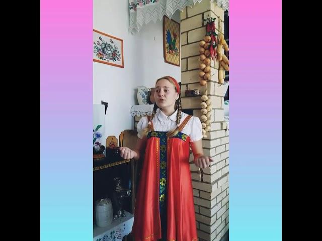 Изображение предпросмотра прочтения – АнастасияАндреева читает произведение «Низкий дом с голубыми ставнями» С.А.Есенина