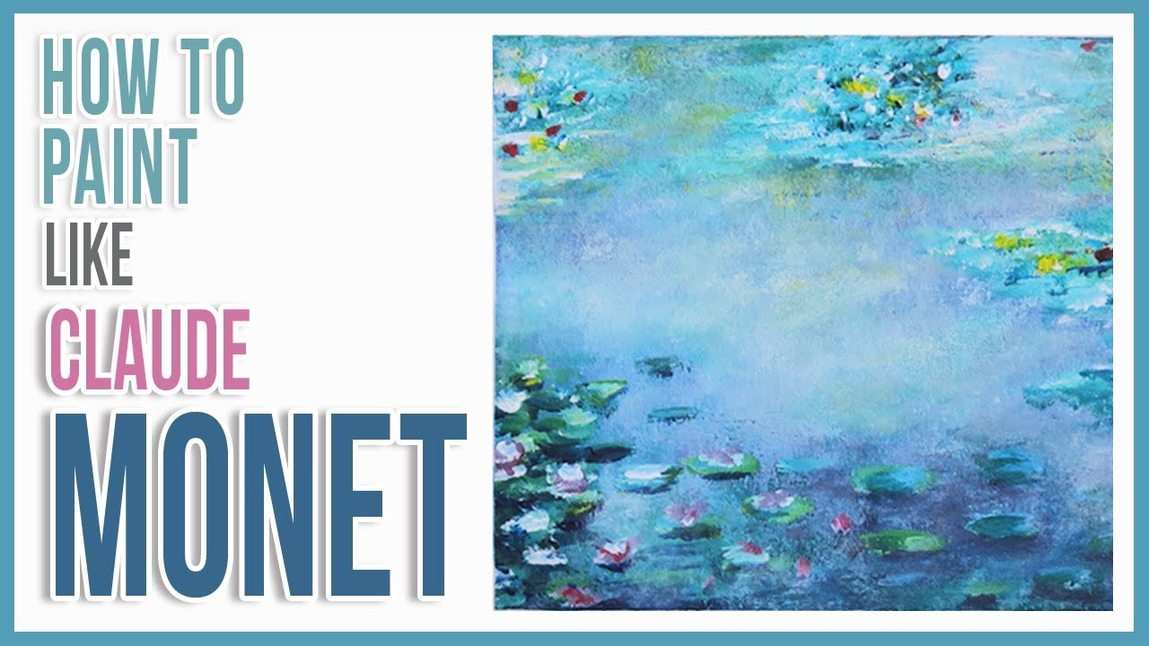 How to Paint Monets Water Lilies with Acrylic Paint Step