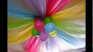 Doğum günü kutlamaları için duvar ve tavan süsleme fikirleri , Canım Anne