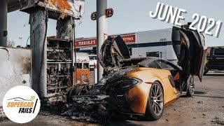 اخطر حوادث السيارات الرياضية 2021