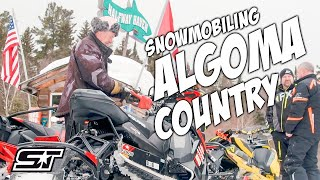 Snowmobiling Algoma Country in Northern Ontario Canada