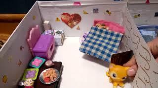 Мой домик для петов в коробке 🎥
