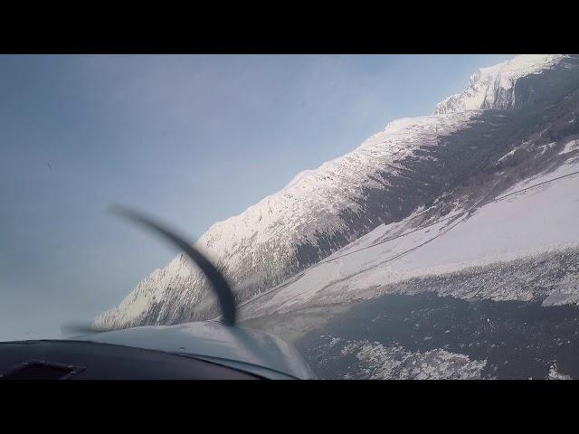 Descent to Landing at Girdwood, Alaska